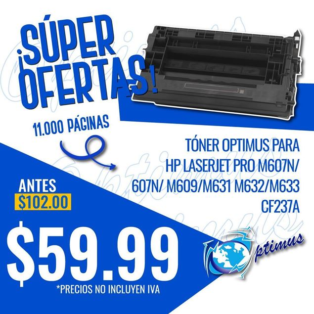 Foto de Toner Optimus remanufacturado para  HP LASERJET ENTERPRISE M607/M608